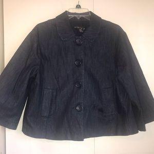 Navy swing jacket